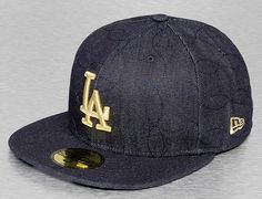 ee4a00ea046 Los Angeles Dodgers Denim Quilt 59Fifty Fitted Baseball Cap by NEW ERA x MLB