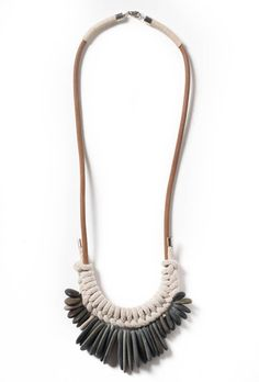 Native and Nomad Stone Fringe Necklace at ShopGoldyn.com