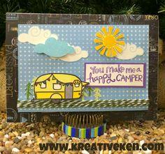 Ken's Kreations - Happy Camper Card