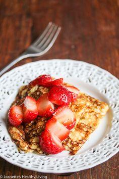 Swedish Pancakes with Fresh Strawberries and Honey (Gluten-Free)