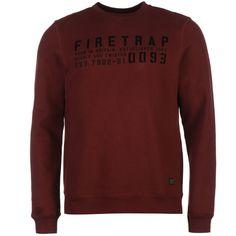 Medium Men's Clothing Men's 'firetrap' Grey Hoodie