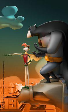 3D Characters - Batman & Robin