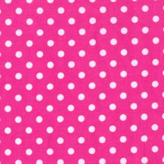 Michael Miller House Designer - Dots - Dumb Dot in Fuschia (for the LOVE panel)
