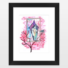 Fun+Indie+Art+from+BoomBoomPrints.com!+https://www.boomboomprints.com/Product/emmakaufmann/Cat_and_Canary/Framed_Art_Prints/11x14_White_Mat_-_Black_Frame/top/20/BigFish/11x14_Black_Frame_White_Matte_Print/