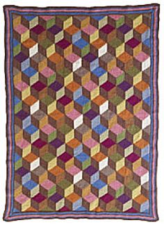 Tumbling Blocks Afghan.... Always wanted to try this one maybe this will be my New Years resolution