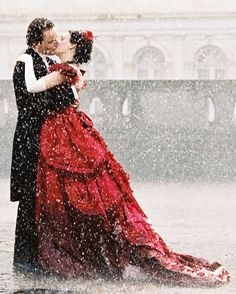 Michael Fassbender & Romola Garai in Angel