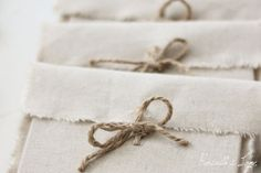 CD packaging  5 linen fabric envelopes  natural by RosellasLane, $15.00