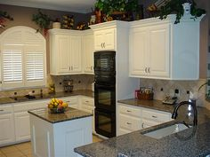 what granite goes with white cabinets | ... white cabinets, granite countertops, and other updates, including half