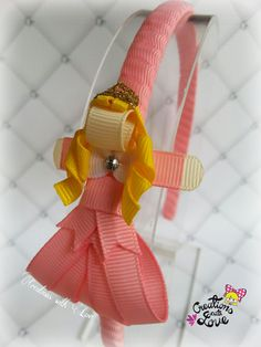 Sleeping Beauty Inspired Ribbon Sculpture by creationslove on Etsy