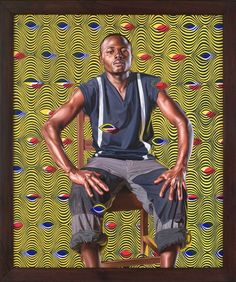 cewax aime les vêtements hommes ethniques, Afro tendance, Ethno tribal Men's fashion, african prints fashion - Kehinde Wiley--I think this is my favorite one ever American Art, African American Artist, African, Kehinde Wiley, Portraiture, Poses, Black Artists, Portrait, American Artists