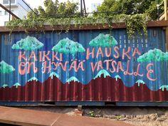 Teurastamon piha, Helsinki. Helsinki, Neon Signs