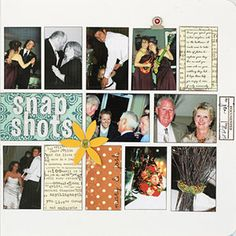 MAKE A MULTIPHOTO WEDDING SCRAPBOOK PAGE - create a structured collage by cropping a variety of wedding photos to similar sizes.