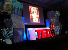 TEDx Wall Street Stage Set Design with projection