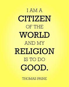 Thomas Paine, Citizen, Religion, World, Instagram Posts, The World