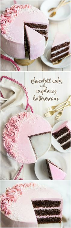 Personalized Graduation Gifts - Ideas To Pick Low Cost Graduation Offers Loved This Moist And Fluffy Chocolate Cake, And The Raspberry Buttercream Was So Light And Fresh Perfect Party Cake Fluffy Chocolate Cake, Amazing Chocolate Cake Recipe, Chocolate Raspberry Cake, Best Chocolate Cake, Chocolate Filling, Strawberry Cakes, Mothers Day Desserts, Pink Desserts, Raspberry Buttercream