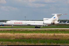 Kosmos Tupolev Tu-154M RA-85488 aircraft, skating at Russian Federation Moscow Domodedovo International Airport. 03/08/2013.