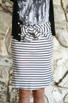 Life is Beautiful: 8 second skirt with a bow DIY. THIS IS GENIUS!! You could do this with shirts that are too big to wear, but would be perfect as a skirt!!