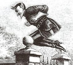 Spring-heeled Jack was last seen in 1904 at Everton in Liverpool.