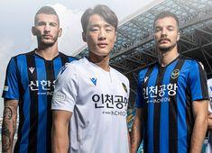 Hero Logo, Football Kits, Incheon, Home And Away, Black Shorts, Manchester United, Black Stripes, Korea, 21st