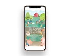 Farm animals child birthday invitation Baby boy birthday | Etsy Electronic Invitations, Birthday Template, Order Of Service, Baby Boy Birthday, Program Template, All Design, Farm Animals, Birthday Invitations, Templates