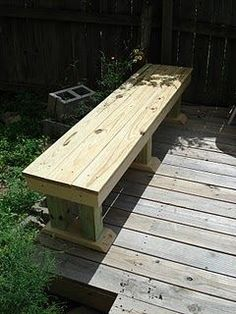 Saturday project.  home made deck bench - Google Search