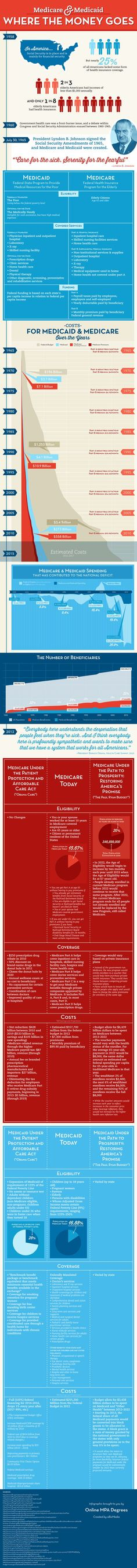 Medicare and Medicaid: Where the Money Goes | Online MPA Degrees #Infographic