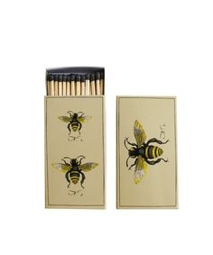 "- Bumble Bee Matchbook! - 50 matches to a box - the box features two different bumble bee images-- one on each side - box measures 4.5"" x 2.5"" x .75"""