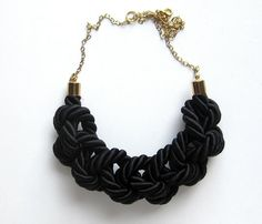 Could we DIY it? . Black Rope Necklace Uncovet