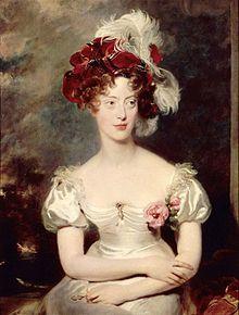 María Carolina de Borbón-Dos Sicilias (1798-1870) - ------ durante la Restauración con María Carolina de las Dos Sicilias, con quien tendría dos hijos, entre ellos, el pretendiente Enrique de Chambord