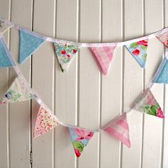 Floral vintage style Cath Kidston bunting by mary_loves_2_sew, via Flickr