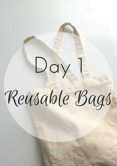 30 Days to Zero Waste - Zero Waste Nerd Waste Zero, No Waste, Reduce Waste, Reusable Shopping Bags, Reusable Bags, Recycling Information, Waste Reduction, Reduce Reuse Recycle, Bags