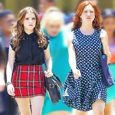 Anna Kendrick and Brittany Snow as Beca and Chloe