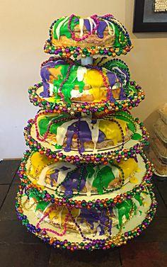 Mardi Gras King Cake Tower !!! Made by Cisha Ledet