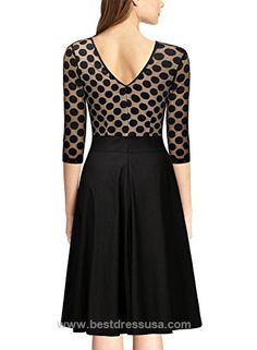 Miusol Women's 1950'S Vintage Polka Dot Optical Illusion 2/3 Sleeve Casual Swing Dress  http://www.bestdressusa.com/miusol-womens-1950s-vintage-polka-dot-optical-illusion-23-sleeve-casual-swing-dress/