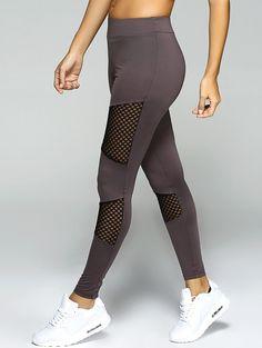 Only $13.04 for Mesh Spliced Sport Leggings GRAY: Active Bottoms | ZAFUL