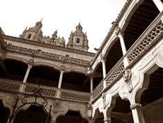 Vistas desde el interior de la biblioteca pública de Salamanca, precioso.