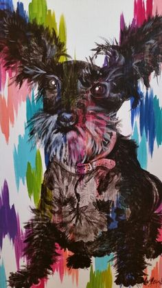 Gladys on chromatic strokes canvas by Lezley Lynch Designs, Edmond, OK