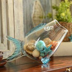 Glass Fish Blue Bowl | Kirklands