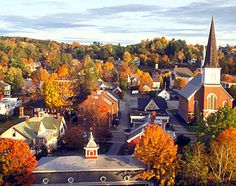 Vermont in fall. Exactly what I picture the town to look like.... minus the ocean, obviously. #Vermont