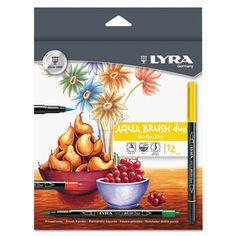 LYRA 6521120 Aquabrush Duo Marker #6521120 #LYRA #Markers  https://www.officecrave.com/lyra-6521120.html