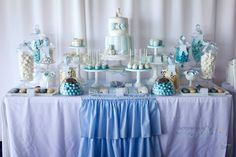 Little Big Company | The Blog: A Combined Christening and 1st Birthday by 3's A Party Candy Buffet and Party Supplies
