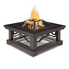 Real Flame 914-BRT Crestone Wood Burning Fire Pit, Brown