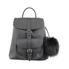 Grafea Women's Fluffy Fur Pom Backpack ($280) ❤ liked on Polyvore featuring bags, backpacks, fur bag, rucksack bag, grafea backpack, pom pom bag and grafea