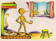 my vintage book collection (in blog form).: In the shop..... Pinocchio - illustrated by Lois Lenski
