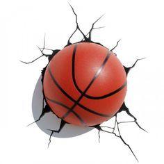 regalos originales lampara 3d baloncesto