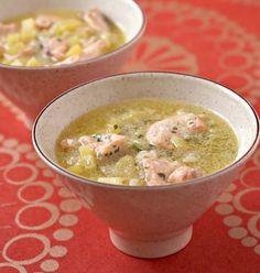 Soupe de saumon aux pommes de terre et lait de coco, la recette d'Ôdélices : retrouvez les ingrédients, la préparation, des recettes similaires et des photos qui donnent envie !