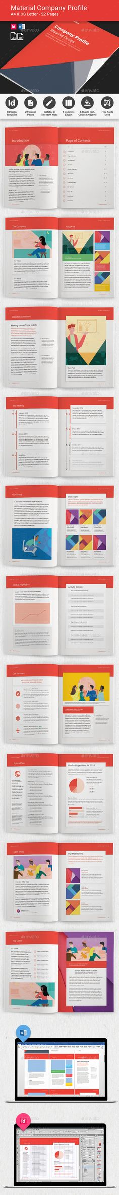 Company Profile - Material Design - Corporate Brochures Download here : https://graphicriver.net/item/company-profile-material-design/19697369?s_rank=23&ref=Al-fatih