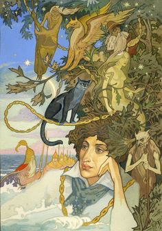 """AlexPushkin's epic fairy tale """"Ruslan and Lyudmila"""" illustrated by Pavel Orinyansky 