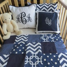 READY TO SHIP Patchwork Blanket Sheet and Crib by BlanketsETC, $175.00