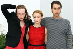 """Sarah Gadon and Caleb Landry Jones Photos Photos - Caleb Landry Jones, Sarah Gadon and Brandon Cronenberg attend the photo call for their film """"Antiviral"""" as part of the 65th Cannes International Film Festival at the Palais des Festivals in Cannes, France. - Celebs at the """"Antiviral"""" Premiere in Cannes"""